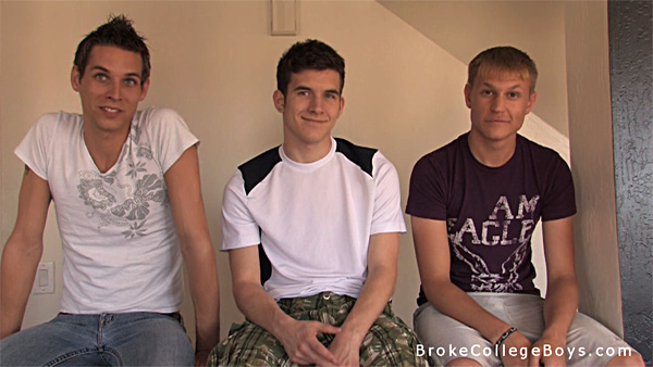 Broke College Boys gay for pay video