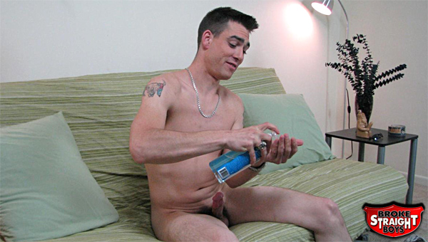 Straight boy jerks off on camera for the first time for some cold hard cash.